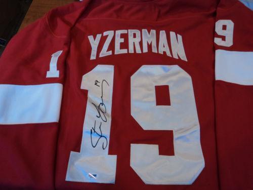 Steve Yzerman Signed Jersey Ebay