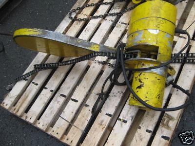 Budgit 1 Ton Chainfall Hoist 250vac 3 Phase