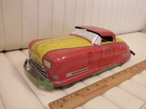1937-40-WYANDOTTE-Wind-up-Convertible-Pressed-Steel-Car-Lithographed