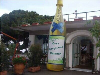 Gonfiabile Bottiglia di Champagne Gigante 5 mt