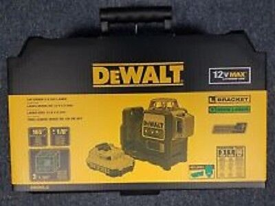 New Dewalt Dw089lg 12 Volt Laser Line Level Green Beam 165 Range Kit 2667384