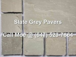 Slate Grey Flagstone Pavers Dark Grey Square Cut Paving Stones