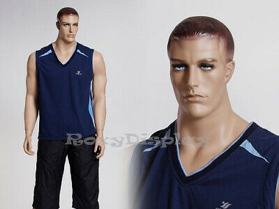 Male Fiberglass Realistic Mannequin Dress From Display Mz-matt