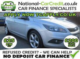 Ford Focus 1.6 TDCi DPF Zetec 5dr Good / Bad Credit Car Finance (silver) 2009