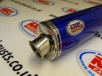 Yamaha WR125x Blue Stainless Oval single outlet Road Legal/RACE MTC Exhaust
