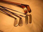Vintage Wood Shaft Golf Clubs