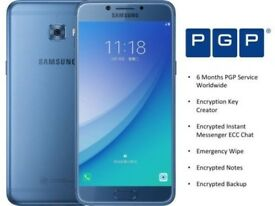 samsung galaxy c7 pro mobile phone with encryption
