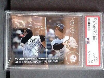 4cc4c4212a 2016 Topps NOW 351 AARON JUDGE/TYLER AUSTIN (MLB DEBUT CARD) - PSA 10 GEM #a