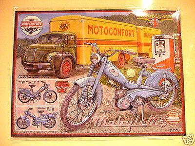 Plaque décoration en métal motobecane mobylette AV 76 collector