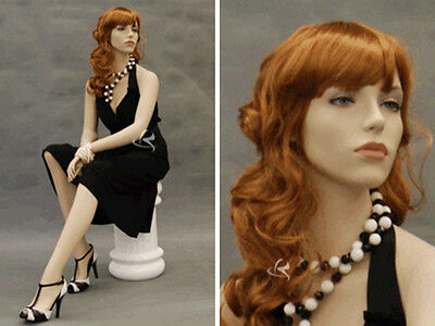 Female Fiberglass Mannequin Pretty Face Elegant Looking Dress Form Md-9020