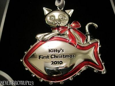 2010 KITTY'S 1ST CHRISTMAS ORNAMENT~FISH~SWAROVSKI~NIB ()