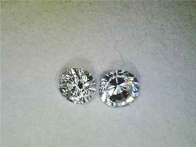 Diamond matched pair  2mm round brilliant lab created accent stone