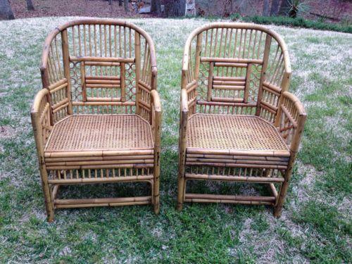 Vintage Bamboo Chair Ebay