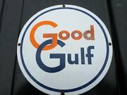 Gulf Porcelain Sign