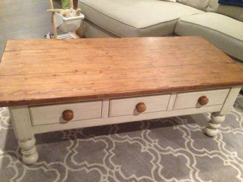 Pottery Barn Furniture EBay - Pottery barn colette coffee table
