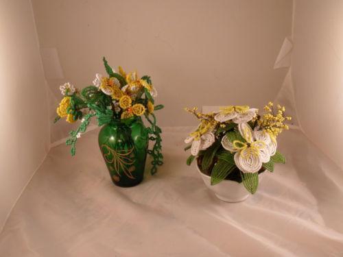 beaded flower arrangement ebay