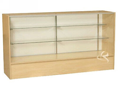 70 Wood Maple Showcase Display Case Store Fixture Knocked Down Sc6m
