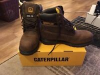 BRAND NEW! Mens Leather Steel Toe Cap Boots UK SIZE 8