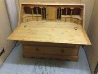 Solid+Sturdy Pine Bureau £40 ono.