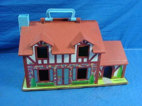 Vintage Fisher Price Little People Dollhouse Ebay