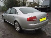 AUDI A8 A8L D3 S LINE SPORT 04-2009 BREAKING SPARES DOORS AIRBAG LEATHER ALLOYS