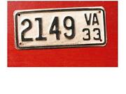 Virginia Motorcycle License Plate