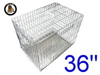 Elie-Boo 36 inch Dog Crate in Silver (never used)