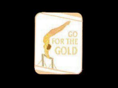Go For The Gold Gymnastics Lapel Pin - INSPIRATIONAL