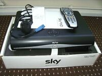SKY FULL HD 3D BOX, WITH GENUINE REMOTE & POWER CABLE. SCRATCH LESS, LIKE NEW.