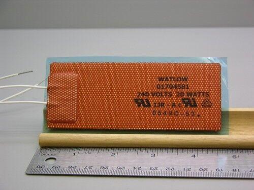 "2 Watlow 1.75 x 4.5""  240V 20W 500F Flexible Heater Pad"