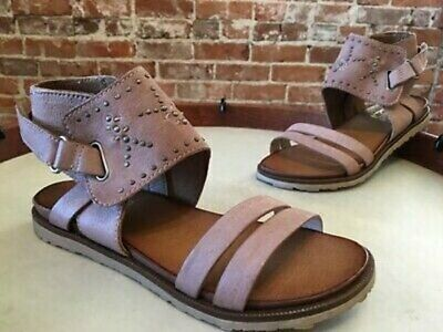 Miz Mooz Leather Sandals w/ Stud Details Tibby Blush Anthropologie 38 7.5 - 8