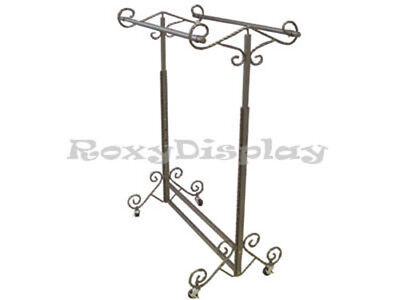 Display Clothes Rack Double Rolling Rack Rk-03d1