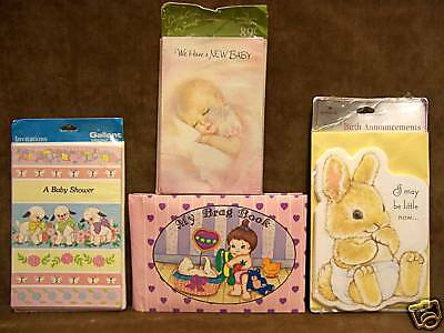 Circle Baby Photo Announcement - Baby Announcements Photo Album Baby Shower Invitations  Lot of 4