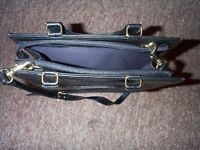 Leather and Bamboo Black Bag Unisex
