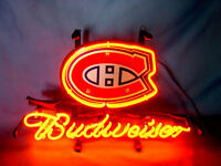 NHL Montreal Canadiens Hockey BUDWEISER Beer Bar NEON LIGHT SIGN