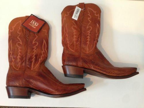 Mens Ostrich Leg Boots Ebay