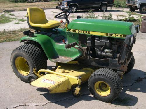John Deere 400 Garden Tractor Attachments : John deere lawnmowers ebay