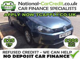Volkswagen Golf 1.2 TSI S 5dr Good / Bad Credit Car Finance (blue) 2010