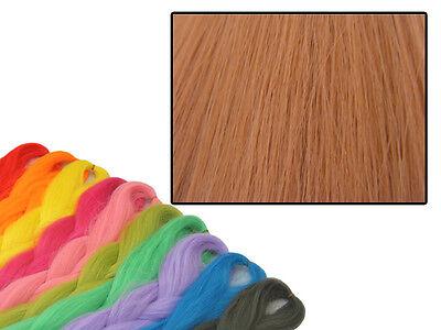CYBERLOXSHOP PHANTASIA KANEKALON JUMBO BRAID COPPER ROSE ORANGE HAIR DREADS for sale  Shipping to Ireland