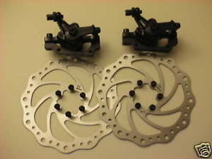 NEW BENGAL Bike Bicycle Disk Disc Brake Caliper 203mm F & R Set + PADS