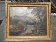 Antique Cow Painting