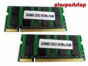 2x2 GB DDR2 So-dimm 667 MHz
