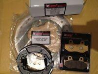 HONDA SES125 DYLAN SH 125 PS NES FRONT BRAKE DISC & PAD & SHOE SET KIT REAR