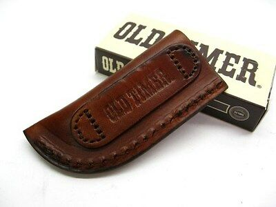 SCHRADE Brown Leather LS3 Small Slip In Belt Pouch SHEATH For Pocket Knife Tool!