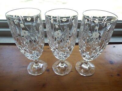 3 GODINGER SHANNON STEPHANIE ICED TEA GLASSES