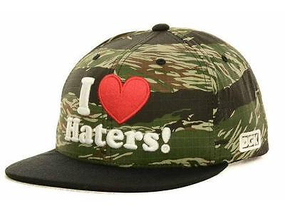 DGK Dirty Ghetto Kids I Heart Haters Snapback Mens Black Camo Hat Cap New NWT