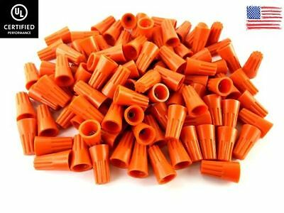 1000pack Orange Twist-on Wire Connectors Conical Nuts 22-14 Gauge Wire-nut Ul