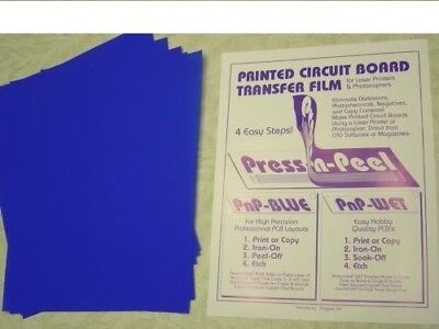Press-n-peel Blue Pcb Transfer Paper Film Etch Circuit Boards Jewelry Sheet
