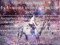 Horse Riding Lessons Christmas Gift Special