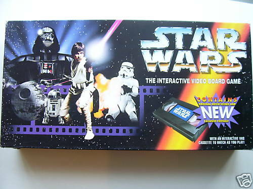 Star Wars Interactive  Board Game By Parker 1995